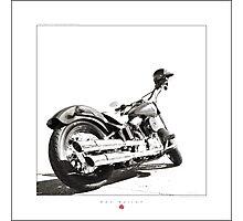"""""""Harley-Davidson Softail Slim """" Photographic Print"""