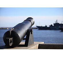 Old coastal Cannon Photographic Print