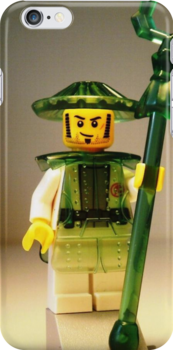 Ching Dynasty Chinese Warrior Custom Minifigure with Trans Green Armour iPod iPhone Case by 'Customize My Minifig' by Chillee
