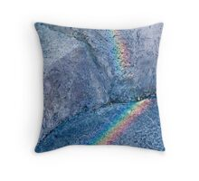 Rainbow rock Throw Pillow