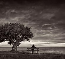 Seat Taken - bw by Michael Howard
