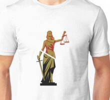 Red and Bronze Statue Unisex T-Shirt