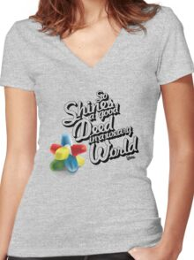 So Shines a Good Deed in a Weary World Women's Fitted V-Neck T-Shirt