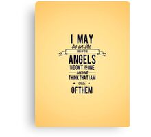 The Side of the Angels Canvas Print
