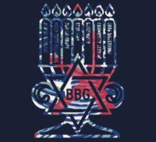 blue pink star bbg menorah Kids Tee