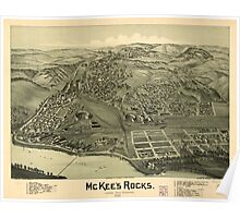 Panoramic Maps McKee's Rocks Allegheny County Pennsylvania 1901 Poster