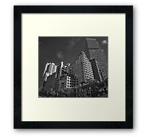 Corner of Spring St and Collins St, Melbourne Framed Print