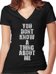 Public Service Announcement Women's Fitted V-Neck T-Shirt