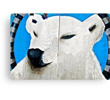 POLAR Conversation.......... (Coney Wall series  7 of 9) Canvas Print