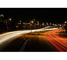 Traffic Trails on I-25 #2 Photographic Print