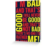 Bad guys  Greeting Card