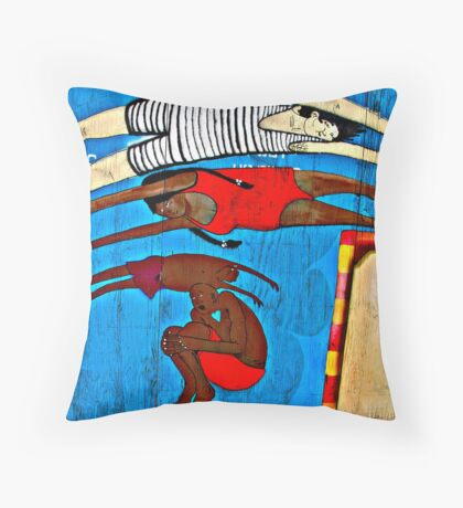 For You, dreamer------------------(Coney Wall series 8 of 9) Throw Pillow
