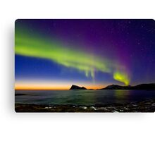 Sunset & Auroras Canvas Print