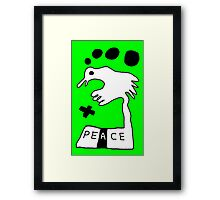 The Troubled Peace Dove Framed Print