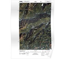 USGS Topo Map Washington State WA Mount Washington 20110510 TM Poster