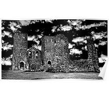 Reculver Castle - Monotone  Poster
