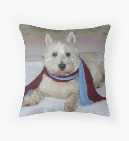 """Westie Hammer"" Throw Pillow"