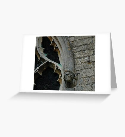 Tracery man Greeting Card