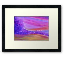 Purple Forest. Framed Print
