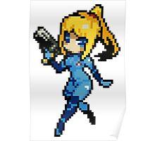 16-Bit Zero Suit Samus Poster