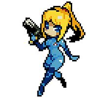 16-Bit Zero Suit Samus Photographic Print