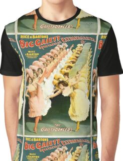 French Gaiety Dancers Vintage Advertisement Graphic T-Shirt
