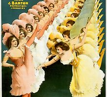 French Gaiety Dancers Vintage Advertisement	 by ukedward