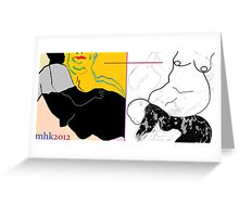 dialogue with a disillusioned delusional dog 1 Greeting Card