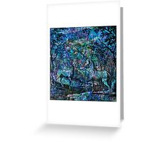"""Alchemical Secrets - """"The Stag And The Unicorn"""" Greeting Card"""