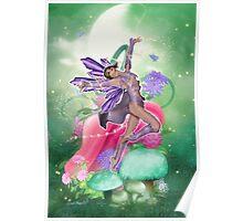 Joyful Fairy .. fantasy art Poster
