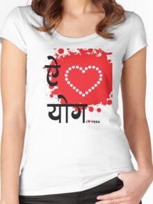 I LUV YOGA Women's Fitted Scoop T-Shirt