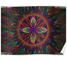 Apophysis Colorful Bloom  Poster