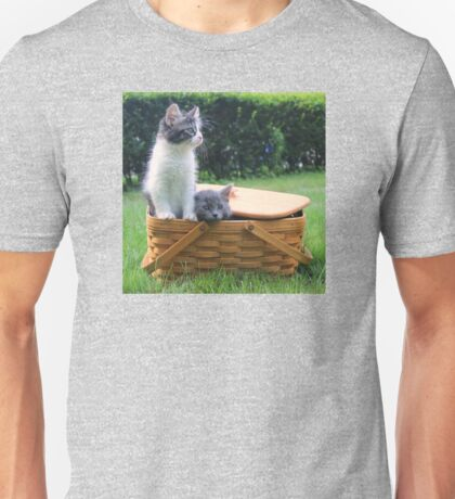 Cute Kittens Escaping from Basket Unisex T-Shirt