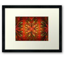 Orange Blooms Delight Framed Print
