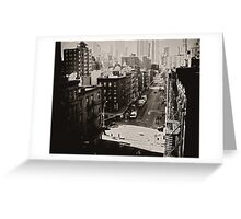 Urban Fragments - Overlooking Two Bridges - New York City Greeting Card