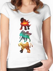 the legendary trio (beasts) Women's Fitted Scoop T-Shirt