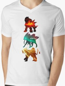 the legendary trio (beasts) Mens V-Neck T-Shirt