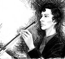 Portrait of Benedict Cumberbatch by Krystal Frazee