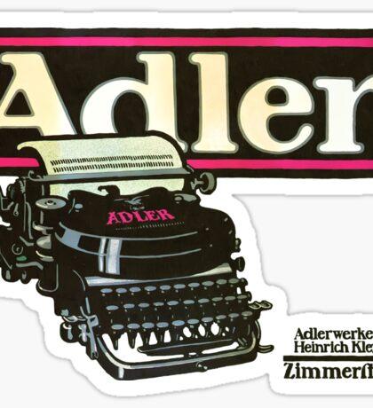 Adler Typewriter Vintage Advertisement Sticker