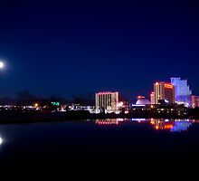 View of Reno, NV on a calm winter night by nikstar222