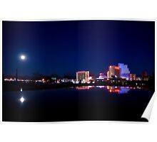View of Reno, NV on a calm winter night Poster