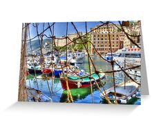 Camogli Oil 1 Greeting Card