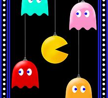 Merry Christmas Pacman Baubles! by believeluna