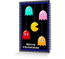 Merry Christmas Pacman Baubles! Greeting Card