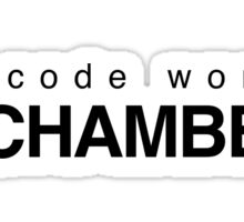 The code word is Rochambeau Sticker