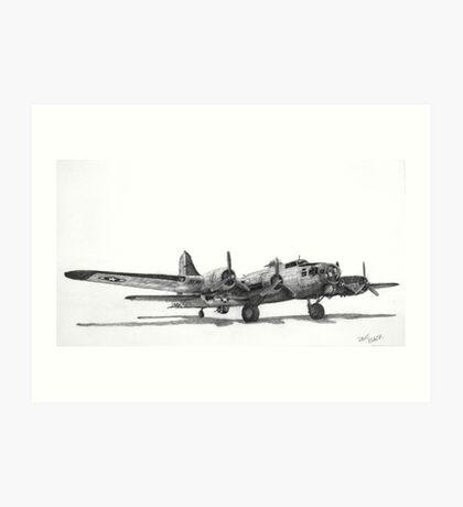 "Boeing B-17G ""Miss Angela"" Art Print"