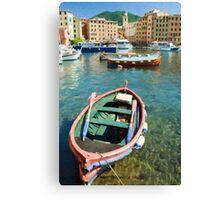 Camogli Oil 2 Canvas Print