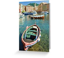 Camogli Oil 2 Greeting Card