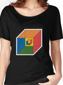 BEWARE HYPNO-CUBE color version Women's Relaxed Fit T-Shirt
