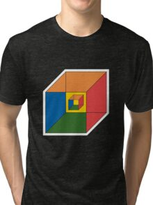 BEWARE HYPNO-CUBE color version Tri-blend T-Shirt